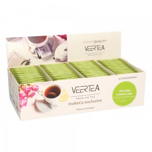 Veertea Green Tea With Fruits 100 kopertek po 1,5g